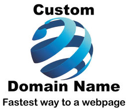 Custom Domain Name logo fastest way to a webpage